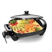 Panela Elétrica Chef Gourmet 30 Cm Preta 220V Suggar PE1022PT